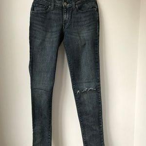 Levi's 711 Stretch Skinny Jeans in Washed Denim S